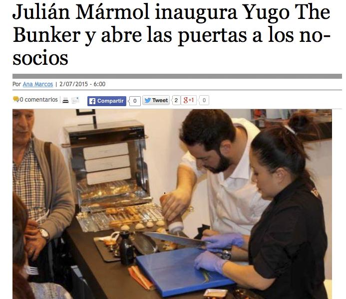 Julián Mármol inaugura Yugo The Búnker y abre las puertas a los «no socios». El Economista.es