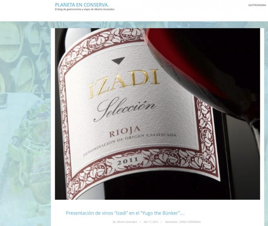 Izadi presenta sus vinos en Yugo The Búnker