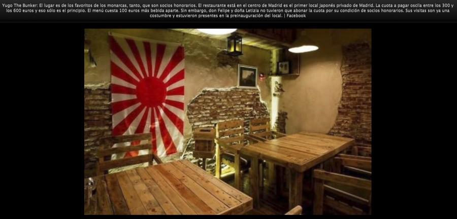 Yugo The Bunker en la ruta gastronómica de la reina Letizia.