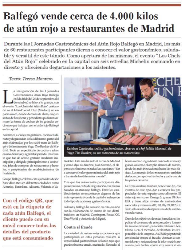 El Chef Julián Mármol portada en los medios de comunicación